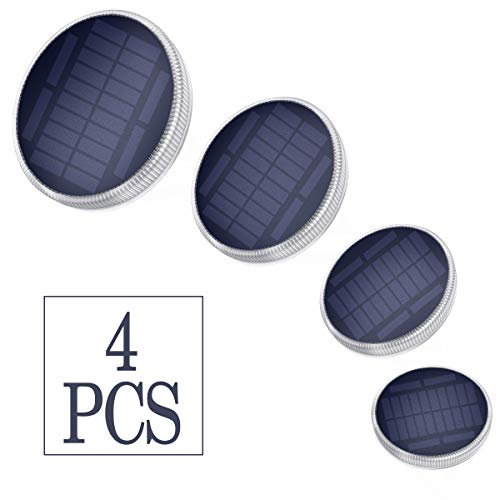 Solar Gartenleuchten - 24 LEDs Solarleuchten für den Außenbereich mit schnellem Aufladen IP68 Wasserdichte solarbetriebene Leuchten für den Gartenterrassenpfad Auffahrt Dock Deck und Yard