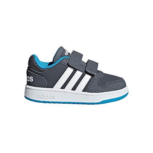 adidas Hoops 2.0 Cmf I Scarpe da Fitness Unisex-Bambini, Multicolore (Gricin/Ftwbla/Ciasho 000) 23.5 EU