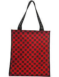 Rolser F1 - Bolsa de mano, color rojo y negro