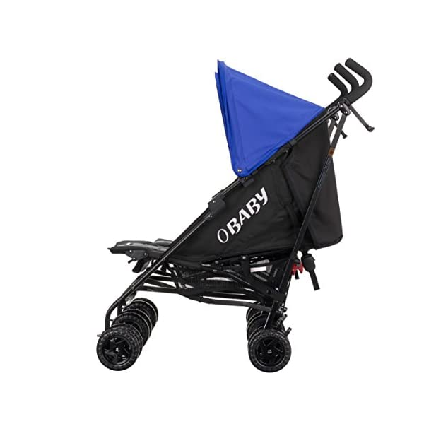 Obaby Apollo Twin Stroller (Blue) Obaby Suitable from birth to a maximum weight of 15kg Independently adjustable multi position seat units Independently adjustable hoods 4