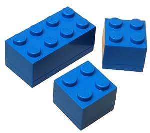 lego mini aufbewahrungskisten set im legostein design blau k che haushalt. Black Bedroom Furniture Sets. Home Design Ideas