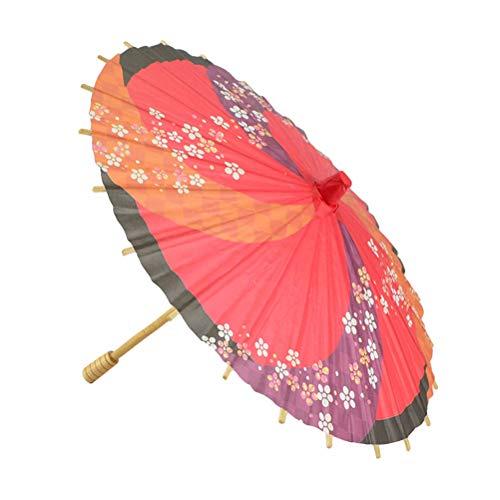 Clispeed ombrello di carta parasol stile giapponese mini decorativo ombrello danza prop decorazione della festa nuziale (colore casuale)