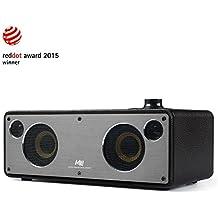 GGMM M3 Retro Altoparlante senza Fili, Wi-Fi / Bluetooth Speaker Stereo con Uscita 40W, Multi-Room Play, Airplay, DLNA, Spotify, iHeart Radio Streaming di Musica i Dispositivi Intelligenti(Nero)
