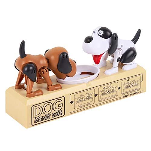 Cartoon Roboter Hund elektronische Münzen Geld Box Sparschwein lustige automatische Anzahlung Sparen Box Kind Kinder Geburtstagsgeschenk - braun