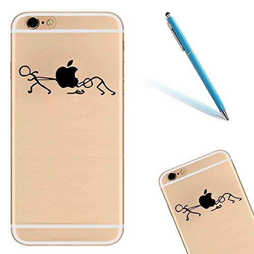 Silicone TPU Cover Coque pour Apple iPhone 6/6S (4.7 Pouces),CLTPY Ultra Mince Super Léger Créatif Cartoon Dessin Motif Séries Étui Case pour iPhone 6/6S,Anti-Rayures Transparente Souple Gel Bumper Pr Tirez la Pomme