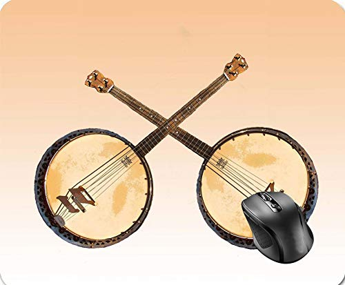 b1702b0a65b SHAQ Orange Abstract Banjo Music Instrument Mouse Pad Alfombrilla de Ratón  8.6 X 7.1 in