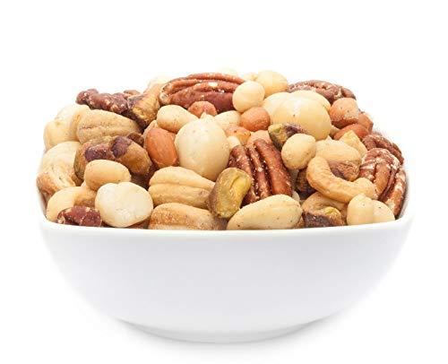 CrackersCompany 'Africa Deluxe Mix' (1 x 2,5kg in Vorratspackung) Afrikanischer Edel Nuss Snack - Edle Erdnüsse, Cashews, Macadamias und Pistazien in einer dezent gesalzenen Nussmischung - Pistazien-cashew