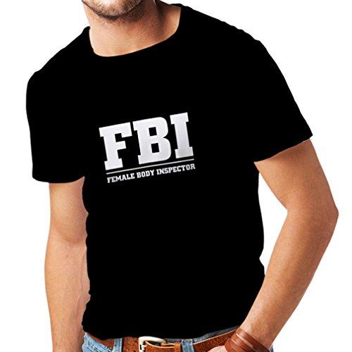 Männer T-Shirt Weiblicher Körper-Inspektor Unisex T-Shirt (Medium Schwarz Fluoreszierend)