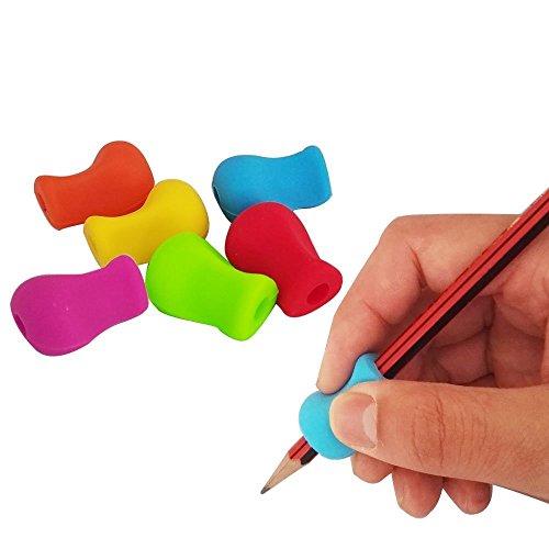 STAR SSTO 6PCS Bleistift Griffe Ergonomische Schreibhilfe für Righties und Lefties Bleistift Griff für Handwritting