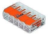 Wago WAG221345_BL40 Pack de 40 Bornes de connexion universelle tous conducteurs Type 221/ 5 entrées
