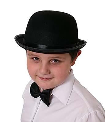 Small Bowler hat, Black felt 55cm-56cm Ladies or Childrens GENTS FANCY DRESS