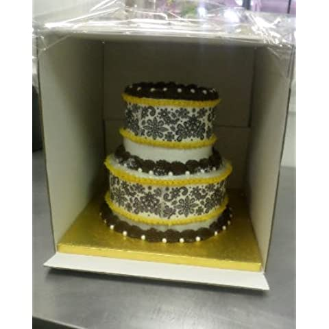 Cakesupplyshop 12inch X 12inch X 12inch Tall Tiered /Double/triple Layer Cake Carry Transport Box - 25pack by CakeSupplyShop - Triple Layer Cake