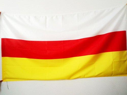 FLAGGE SÜDOSSETIEN 150x90cm - OSSETIEN FAHNE 90 x 150 cm scheide für Mast - flaggen AZ FLAG Top Qualität