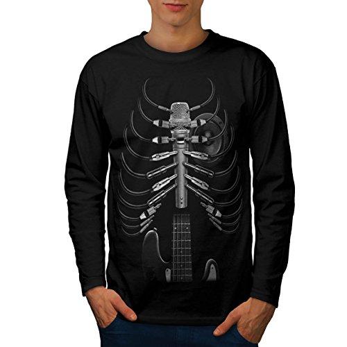 amped-up-hero-guitar-band-battle-men-new-black-xl-long-sleeve-t-shirt-wellcoda