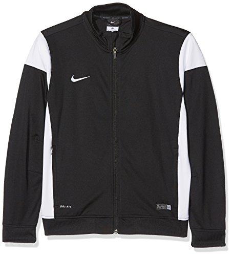 Nike Kinder Sweatshirt Sideline Knit, black/white, S, 588400-010 (Jacket Nike-knit)