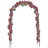 Iso Trade Rosenbogen 240x140 Pergola Garden Rankhilfe Rosenhilfe Garten Kletterrosen #1719