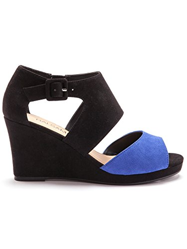 Balsamik - Zweifarbige Sandalen mit Plateauabsatz - Damen Schwarz