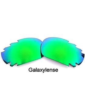 Galaxylense lentes de repuesto para Oakley Racing Jacket Verde Esmeralda Color Polarizados,GRATIS S&H