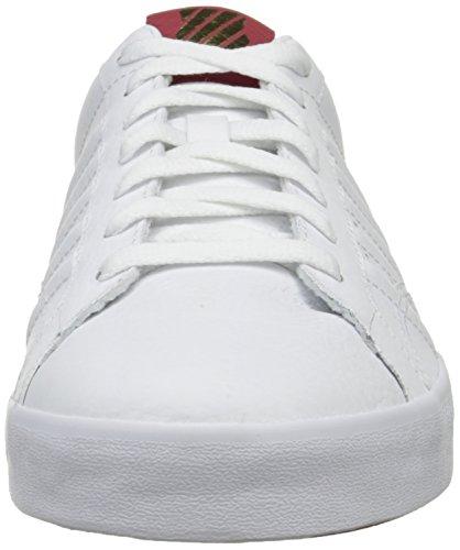 K-Swiss Belmont, Sneakers Basses homme Blanc (White/Ribbon Red/Dress Blue)