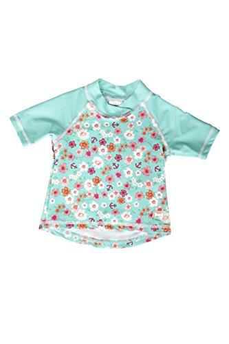 Banz Kurzarm Badeshirt Thermoisolierung bei kalten Wassertemperaturen für Kinder, Blumen, 18 Monate.