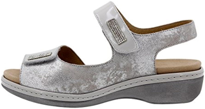PieSanto Komfort Damenlederschuh 1818 Sandale mit Herausnehmbarem Fußbett Bequem Breit