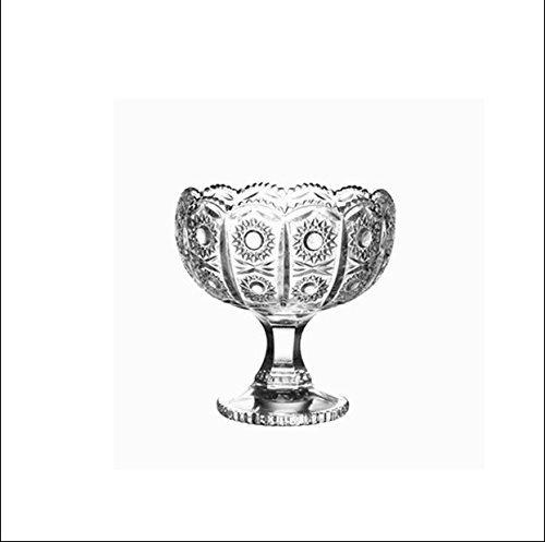 VPlus 1 Stück Glas Startseite Hohe Eisbecher Eisbecher Eisbecher Schüssel Smoothie Cup Eisbecher Dessertbecher Glasfüßchen Dessert Cup Footed Dessertschale