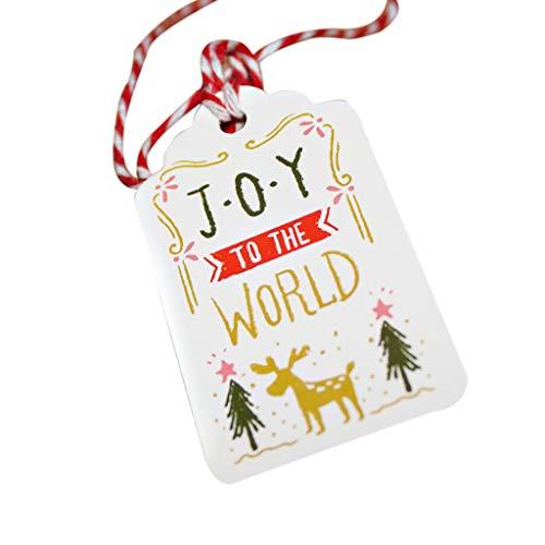 50 stücke Weihnachtskarte DIY LSAltd Weihnachten Einzigartiges Geschenk Tags Kleine Karte Optional String DIY Handwerk Label Party Decor Frohe Weihnachten -