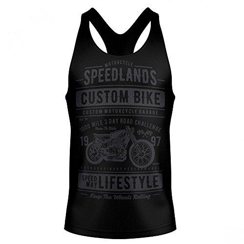 Stylotex Stringer Cotton Tank Top Speedlands Custom Bike Fitness Gym Shirt, Größe:XXL, Farbe:schwarz (Harley Xxl T-shirts Herren Davidson)