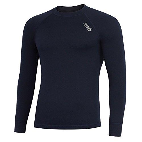 Mount Swiss Herren Thermowäsche Shirt, Davos, darkblue, Gr. XXXL/Thermo-Unterwäsche Langarm Unterhemd Funktionsunterwäsche Thermoaktiv