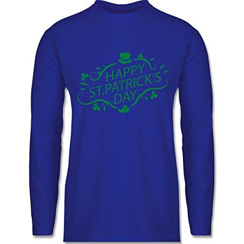 Shirtracer Festival - Happy St. Patrick's Day - Herren Langarmshirt  Royalblau