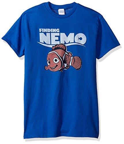 Disney Herren T-Shirt Findet Nemo - Blau - Groß -