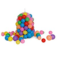 100pcs Colorful Soft Plastic Water Pool Ocean Wave ball Baby Funny Toys stress Air ball Outdoor Fun Sports toys for kids qy