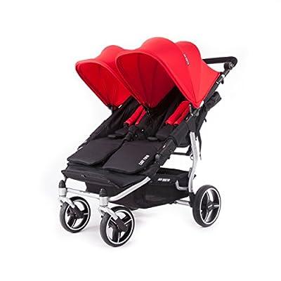 Baby Monsters- Silla Gemelar Easy Twin 3.0.S ( Silver ) - Color Rojo + REGALO de un bolso de polipiel (capota normal) Danielstore
