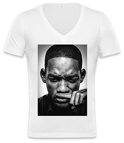 Will Smith Blows Coke Cocaine Drugs Fresh Prince Unisex Deep V-neck T-shirt X-Large -
