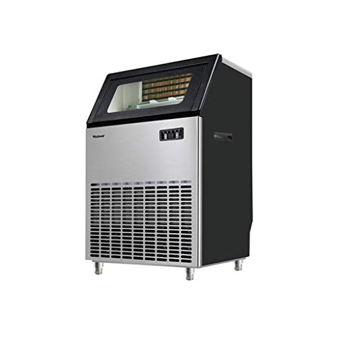 JCOCO Automatische Eiswürfelmaschine unter Theke/freistehend für Restaurant Bar Cafe, Produkte 264lbs Daily-w/Scoop, Timer & Auto Clean, Einstellung der Eisstärke - Arbeitsplatte Magie