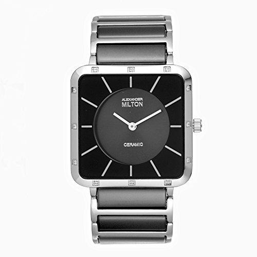 ALEXANDER MILTON - montre homme - SAO, noir/argente