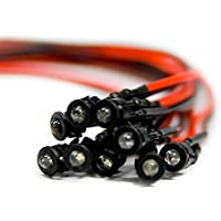 10 Stück Verkabelte Dioden LED pre Wired Grün Diffus Gefärbt 24V 1.8mm