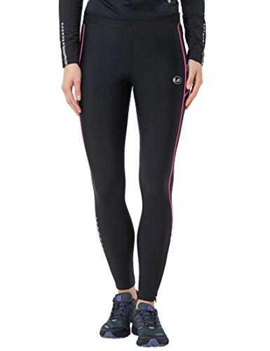 Ultrasport Pantaloni Jogging per Donna con Funzione Quick Dry, Lunghi, Nero/Neon Rosa, M