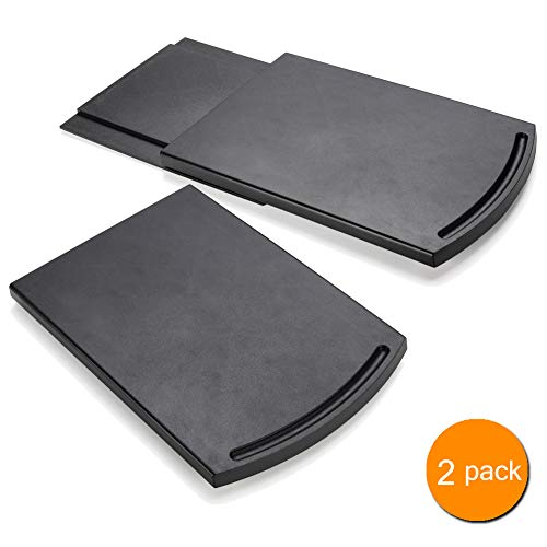 Geräte-Caddy Sliding Coffee Maker Tray 30,5 cm Coffee Pot Slider Machine Mat Under Countertop Rolling Tray for Blender Toaster with Smooth Rolling Wheels (2 Pack, schwarz)