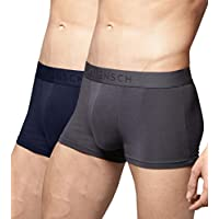 DAMENSCH Men's Micro Modal Trunk (Pack of 2) - Blayze Grey, Kentt Blue-Mix-Medium