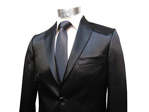 Hochzeit Anzug mit winzige Muster Glänzend Schwarz Muga Schwarz