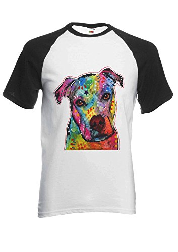 PatPat Store Dog Animal Doggie Cute Painting Art Novelty Black/White Men Women Unisex Short Sleeve Baseball T Shirt-XXL (Dog Top T-shirt Doggy)