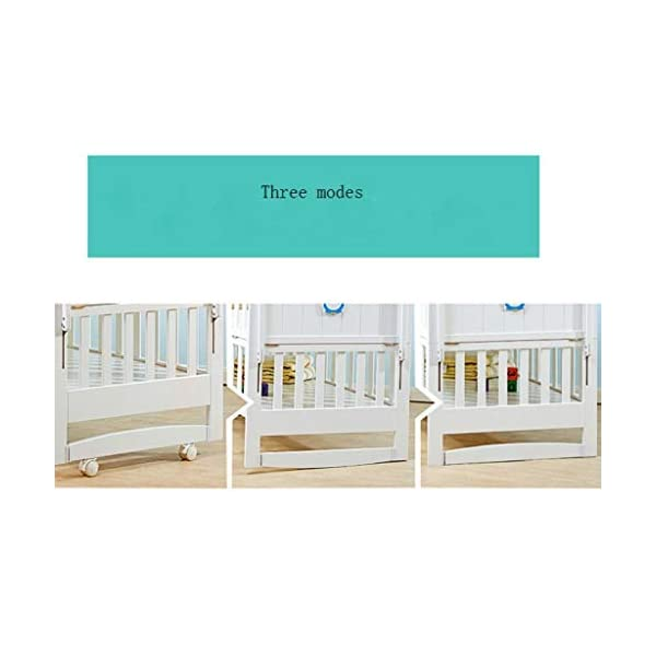 Baby Travel Bed Newborn Toddler Baby Crib Breathable Mesh Baby Anti-Collision Bed Bumper Protector Detachable Crib Liner Folding Baby Crib DUOER home It can bring sufficient security to baby and let baby enjoy the comfortable sleeping,You don't have to worry about the quality of your baby sleeping any more. ★ New upgraded multi-functional European crib, imported New Zealand pine, environmentally friendly water-based paint. ★Safe and environmentally friendly water-based paint, environmentally friendly, non-toxic, formaldehyde-free, and odor-free, so that every bit of your baby breathes healthy. 4