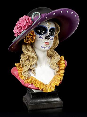 Figuren Shop GmbH Fantasy Day of The Dead Büste - Muertos Marigold | Deko-Figur, handbemalt, H 34,5 cm