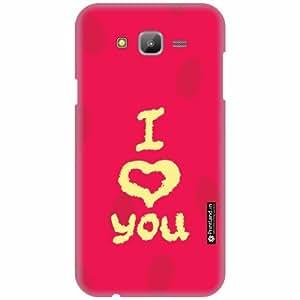 Printland Designer Back Cover for Samsung Galaxy J7 - I Love You Case Cover