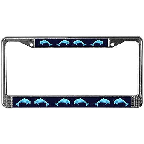 CafePress Delfini License Plate Frame per software, Standard, colore: multicolore