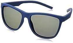 Polaroid Sunglasses Pld6014s Wayfarer, Blue/Gray Blue Mirror Polarized, 56 mm