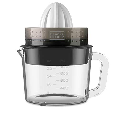 Black + Decker ES9240070B BXCJ30E Zitruspresse, 30, Glas, 1 Liter, Weiß