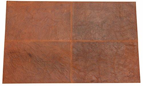 Gusti Leder studio ''Marvin'' pannello in pelle da lavoro pelle di bufalo grande marrone 2A81-20-2