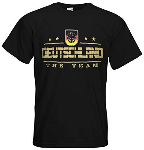 Deutschland Fanshirt T-Shirt Länder-Shirt im modernen Look Schwarz